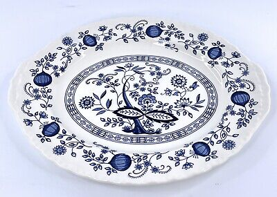 Enoch Wedgwood Tunstall LTD Blue Heritage Oval Serving Platter 12.25