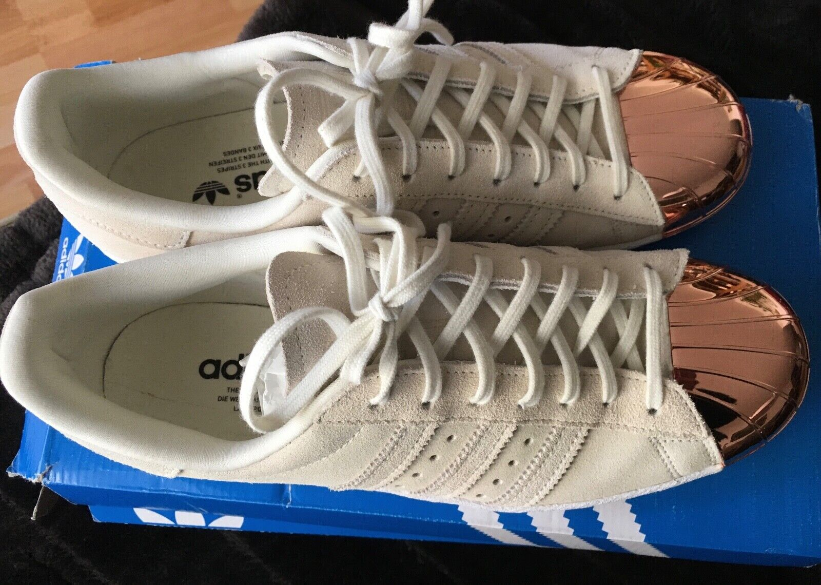 ADIDAS Superstar 80´s Metal Toe off White Rose Gold weiss Gr.40 ORIGINAL,limited
