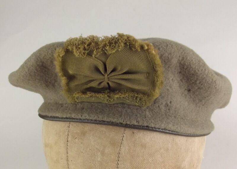 Scoutwear UMBRO Olive Fleece Beret Scout Wear Leather Vintage Medium