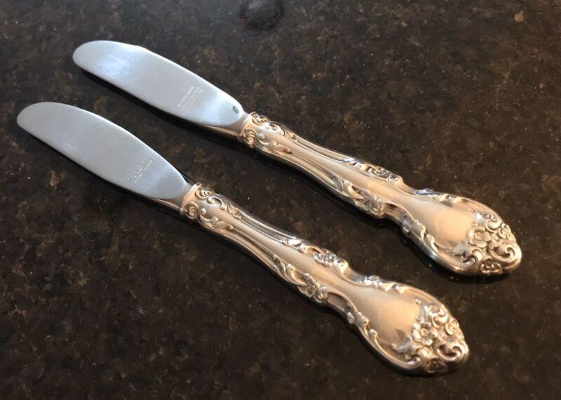 Gorham Melrose Sterling Silver Butter Spreader Set of 2