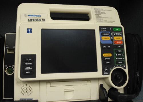 Lifepak 12 - Biphasic, 12-lead Ecg, Aed, Pacing Nellcor Spo2, Printer, El Screen