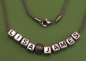 Hand-Made-Personalised-Any-Name-Necklace-on-Stainless-Steel-Chain