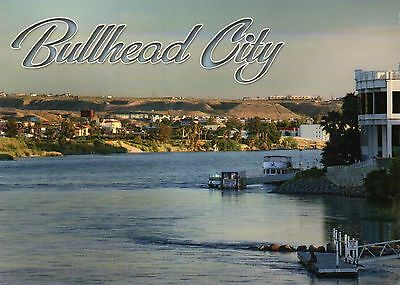 Bullhead City Arizona, Colorado River Mohave County, near Laughlin NV - Postcard