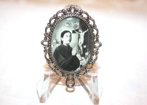 St. Gemma Galgani Rosary Center # 2/ Your Choice: Silver/ Bronze/Antique Gold