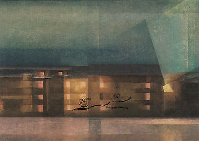 Lyonel Feininger - Nächtliche Staße / Dessau