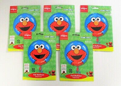 Pack of 5 Sesame Street Elmo Foil Balloons - 43 cm - Kids Party Helium - Elmo Helium Balloons