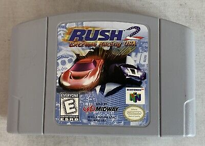 Rush 2: Extreme Racing USA (Nintendo 64, 1998) N64 Cartridge Only Authentic