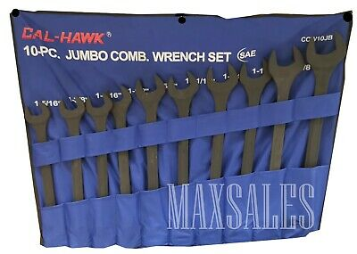 "New 10pc Jumbo SAE Combo Wrench Set 1-5/16"" - 2"" Combination"
