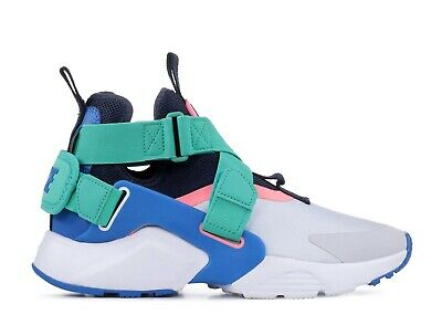 Nike Huarache City High GS AJ6662-001 Pure Platinum Blue Nebula Shoes Size 5.5Y