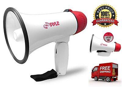 Megaphone Speaker PA Bullhorn Handheld Loud Speaker Adjustable Volume Siren Horn