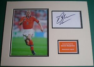 Genuine-Dennis-Bergkamp-Hand-Signed-Autograph-Photo-Mount-Netherlands-Holland