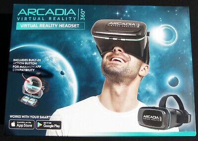 ARCADIA VIRTUAL REALITY HEADSET 360 - Smartphone VR Simulator - NIB Uses Apps