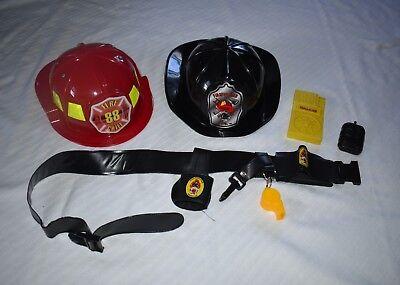 Preschool Dress Up Clothes (4 pc Fireman Pretend Play Dress Up Preschool Boys Girls Helmet Belt)