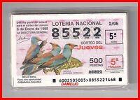 Año 1995 Completo Loteria Nacional Del Jueves, Tema Pajaros -  - ebay.es