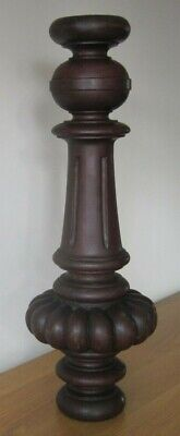 Antique Scrolled Carved Mahogany Table Leg - Table Light - Stand