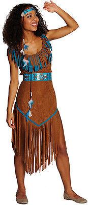 Blue Moon Indianerin Kostüm NEU - Damen Karneval Fasching Verkleidung Kostüm
