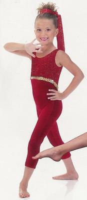 Clearance Acro Star Unitard Dance Costume Glitter SZ CHOICES HALLOWEEN