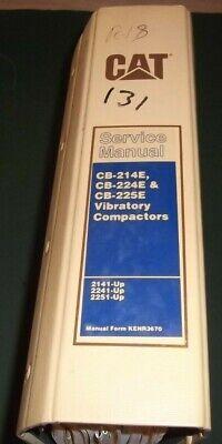 Cat Caterpillar Cb-214e Cb-224e Cb-225e Compactor Shop Service Repair Manual