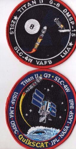 Original USAF VAFB Titan II DMSP-15 & Quikscat Satellite Launch Patch Set - 2pcs