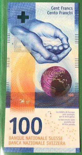 SWITZERLAND 100 Francs 2017 P - New (2) Sign. Studer & Zurbrügg UNC Banknote