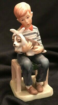 Norman Rockwell AT THE VETS Sick Dog Figurine Saturday Evening Post 1981 Vtg