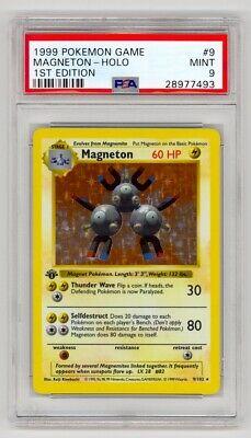 Pokemon 1999 Game #9 Magneton Holo 1st Edition PSA 9 Mint
