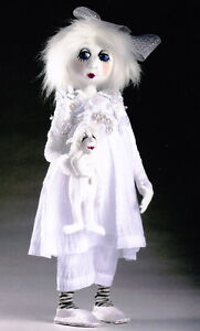 PATTERN - Snowdrop & Frosty - pretty all-white cloth doll PATTERN - Jill Maas