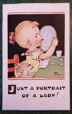 "Mabel Lucie Attwell ""Just a Portrait of a Lady"" postcard, used for sale  Grimsby"