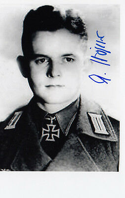 Ahrend Hoper TANK ACE 66 Kills Eastern Front WWII Knights Cross SIGNED 4x6 PHOTO