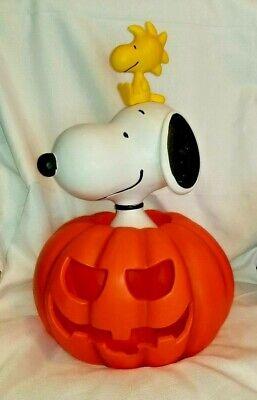 2019 PEANUTS Halloween GREAT PUMPKIN Snoopy WOODSTOCK Light Up Display RARE