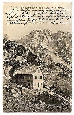 Muttekopfhütte, Hintere Platteinspitze, Berghütte, Imst, 1910 nach Radebeul