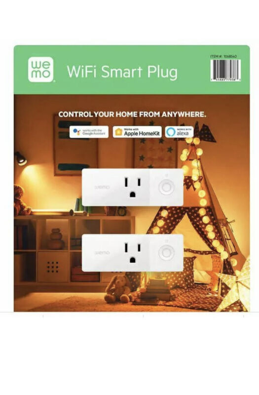 Wemo Mini Smart Plug Turn Lights and Appliances WiFi Works with Alexa Apple NEW