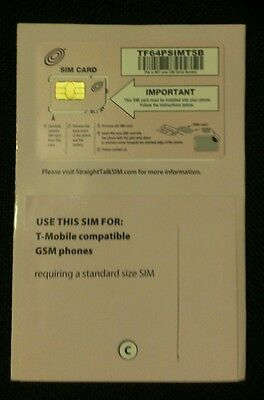 Straight talk Standard sim card for T-mobile or unlocked GSM phones+ Iphone (Sim Card For Iphone 3gs Straight Talk)