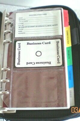 Budget Planner Organizer Wallet 2 Separate Zippered Sections Nos Look Look