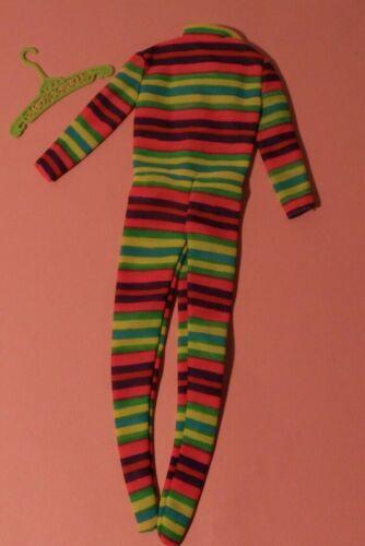 Vintage Barbie Outfit #3422 THE COLOR KICK Fashion Multicolor Striped Bodysuit