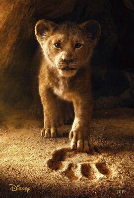 THE LION KING MOVIE POSTER 2 Sided ORIGINAL INTL Advance 27x40 JON FAVREAU