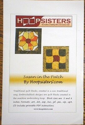 """HOOP SISTERS """"SUSAN IN THE PATCH"""" EMBROIDERY CD"""