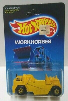 1986 Hot Wheels Workhorses Earth Mover #3715