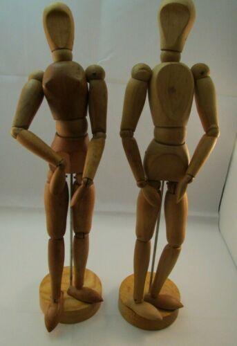 Vintage MORILLA Maniquettes Set of 2 Articulated Artist Figures Male & Female