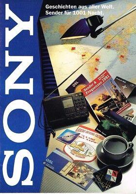 Sony - Sender für 1001 Nacht, orig. Broschüre ca. 1991 - Sony-sender
