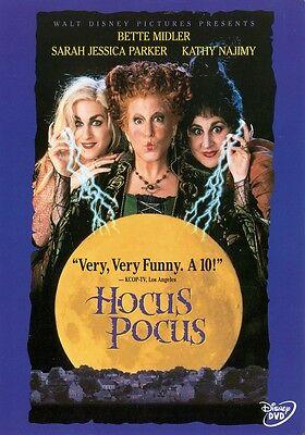 Hocus Pocus: Disney Halloween Witch Movie Bette Midler Sarah Jessica Parker DVD  - Halloween Movie Sarah Jessica Parker