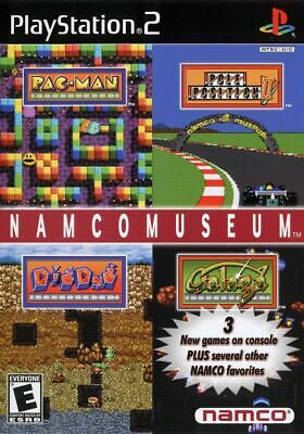 Namco Museum (Sony PlayStation 2, 2001) Video Game Multi Player Black Label RARE