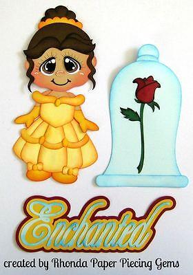 Disney Belle girl  paper piecing die cut set for Scrapbook Page albums by Rhonda