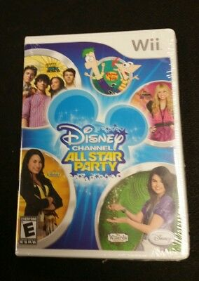 Disney Channel All Star Party Nintendo Wii - Phineas + Camp Rock + More! NIP ()