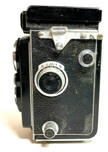 Vintage Rolleiflex Compur-Rapid Film Braunschweig Camera 1:3.5/75mm