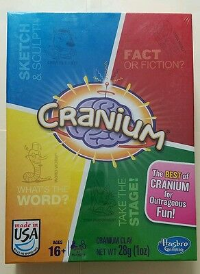 Hasbro THE BEST OF CRANIUM Board Game w/400 BEST CRANIUM CHALLENGES NEW SEALED