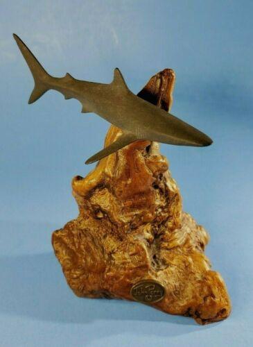 John Perry Shark Sculpture on DriftWood Burl