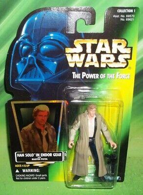 STAR WARS POTF SERIES HOLOGRAM HOLOGRAM CARD HAN SOLO ENDOR GEAR FIGURE (Han Solo Endor Gear)