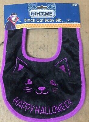 Rite Aid Halloween Black Cat Baby Bib -