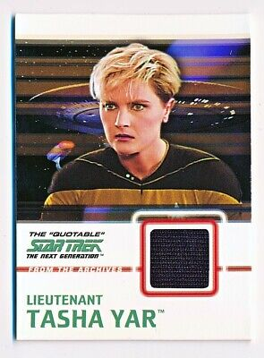 Star Trek The Next Generation Quotable Tasha Yar Costume Black Variant #C8